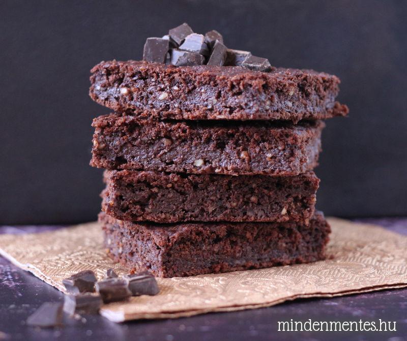 Mindenmentes brownie: cukor-, glutén-, tejtermék- és tojásmentes, vegán recept |mindenmentes.hu