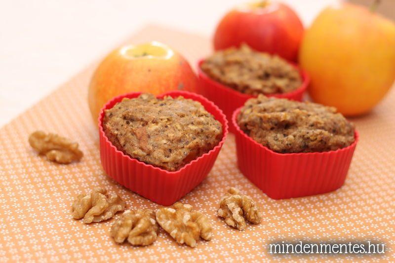 Almás-diós muffinok