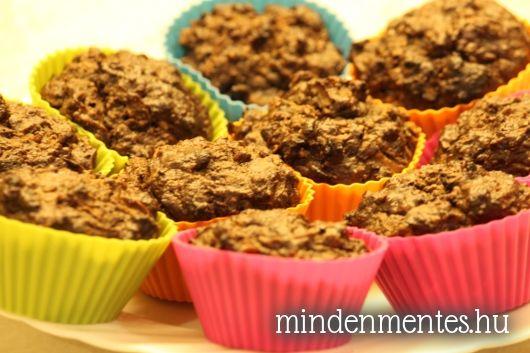 Duplacsokis körtés muffin