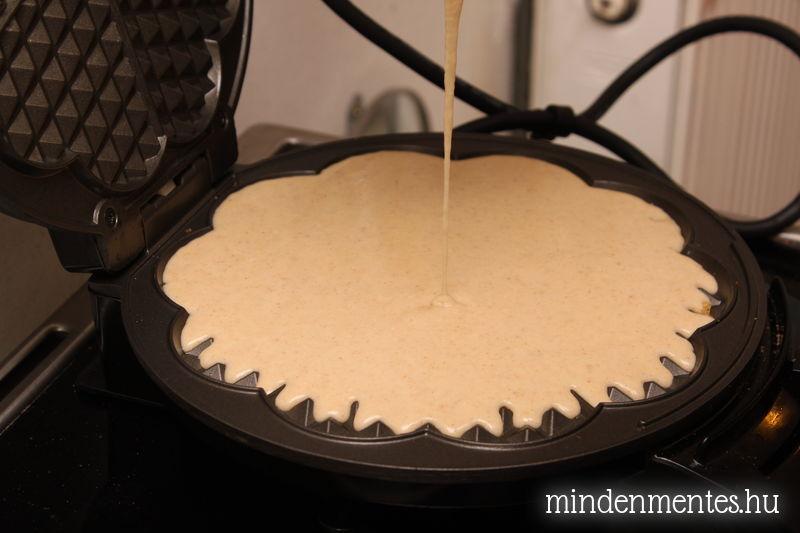 Gofri 1. - cukor-, tej- és gluténmentes, teljes kiőrlésű, szteviával
