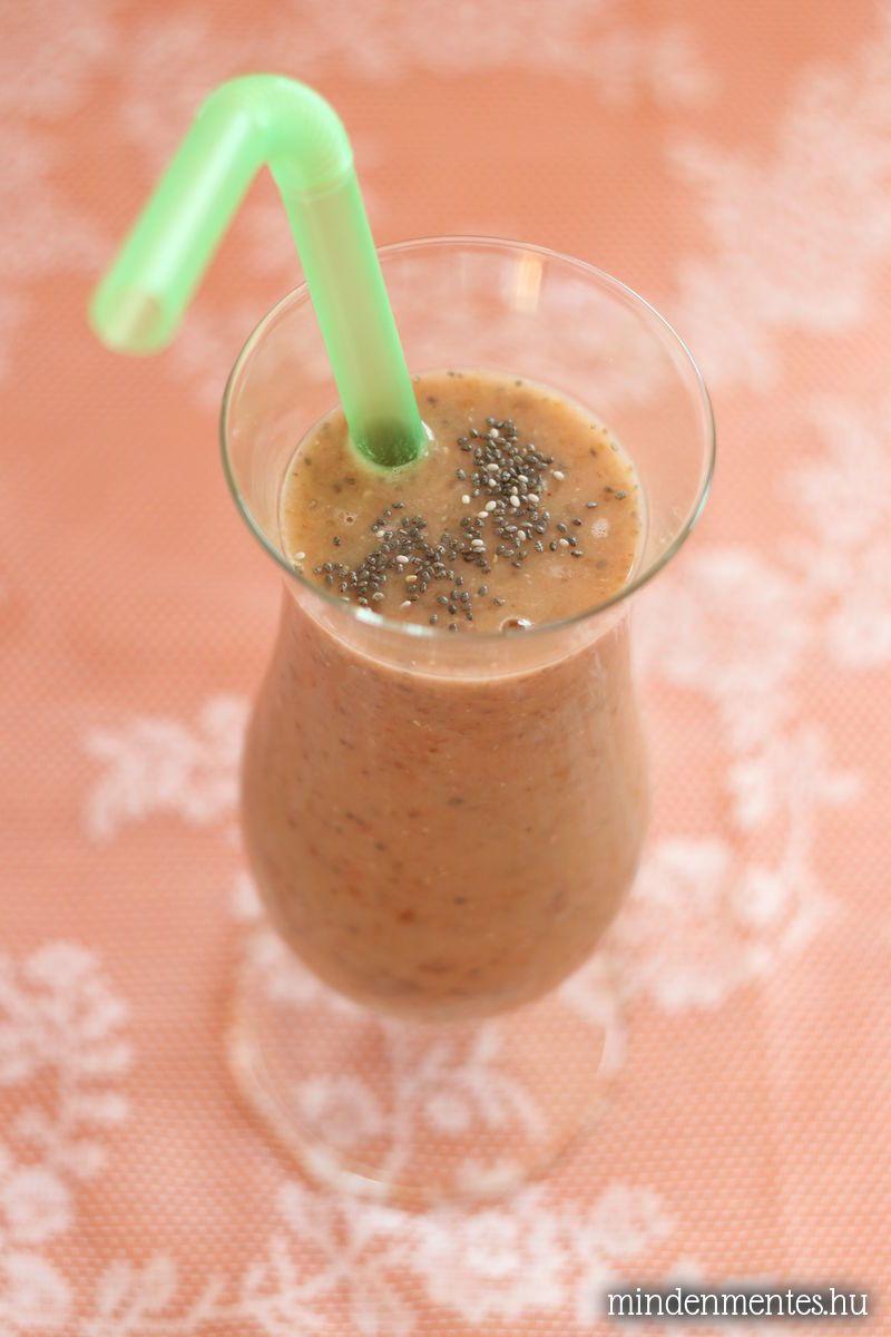 Gyümölcsös, krémes, lukumás turmix sötét fellegek ellen (tejtermékmentes, vegán)