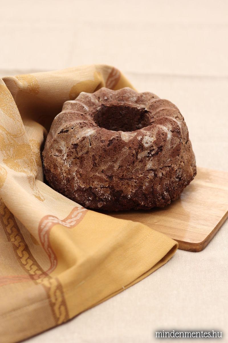 Kakaós kuglóf mindenmentesen (cukor-, glutén-, tejtermék-, tojásmentes, vegán)