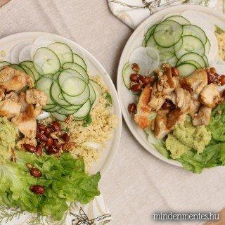 Kedvenc csirkés-magos salátám