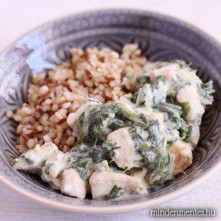 Kókuszos-spenótos csirke (gyors, tej- és gluténmentes)