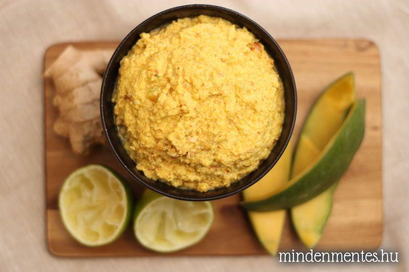 Mangós-kurkumás kence (nyers, vegán szendvicskrém)