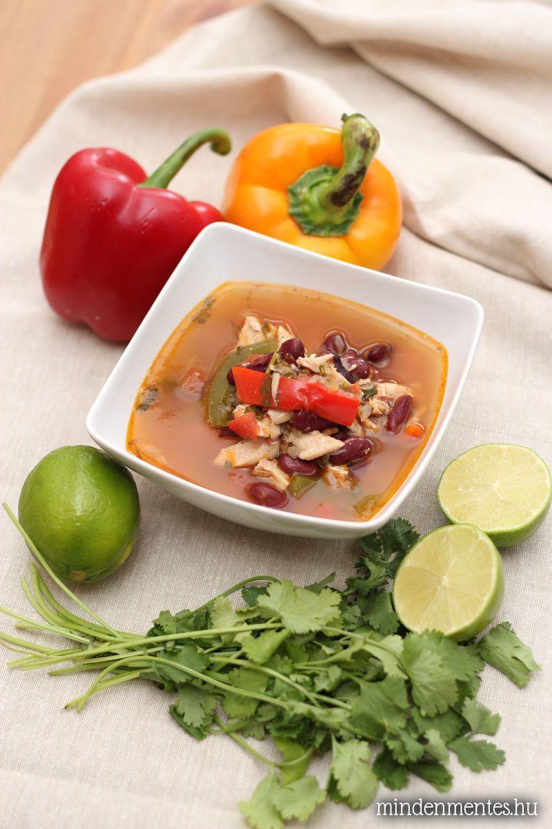 Mexikói csirke fajita leves