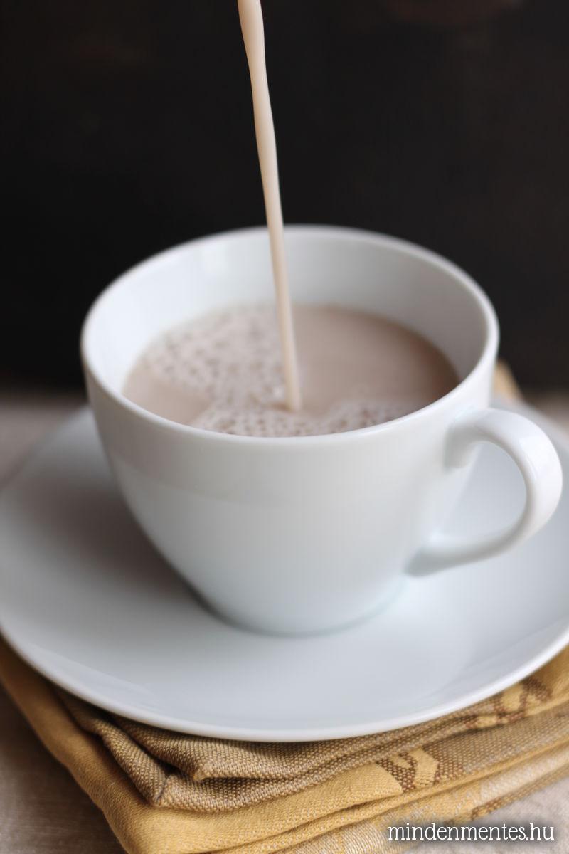 Mézeskalács latte - növényi tej alap, házilag, Vegital készülékkel