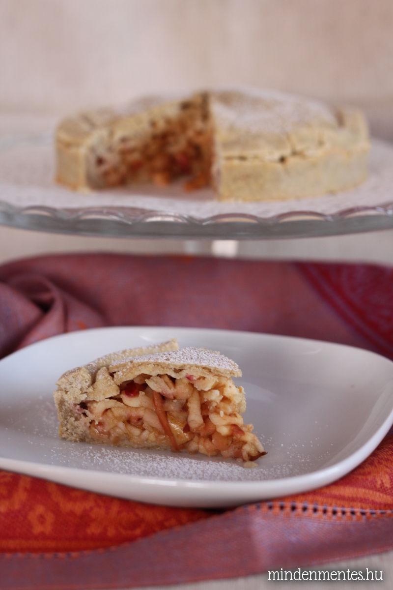 Mindenmentes almás pite gyorsan és egyszerűen: gluténmentes, cukormentes, tejtermék- és tojásmentes, vegán recept teljes kiőrlésű lisztekből