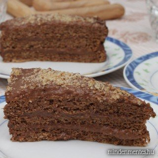 Mogyorókrémes torta