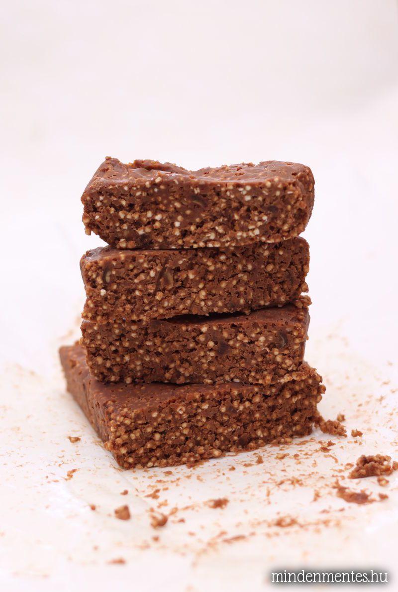 Mogyorós-csokis fehérjeszeletek