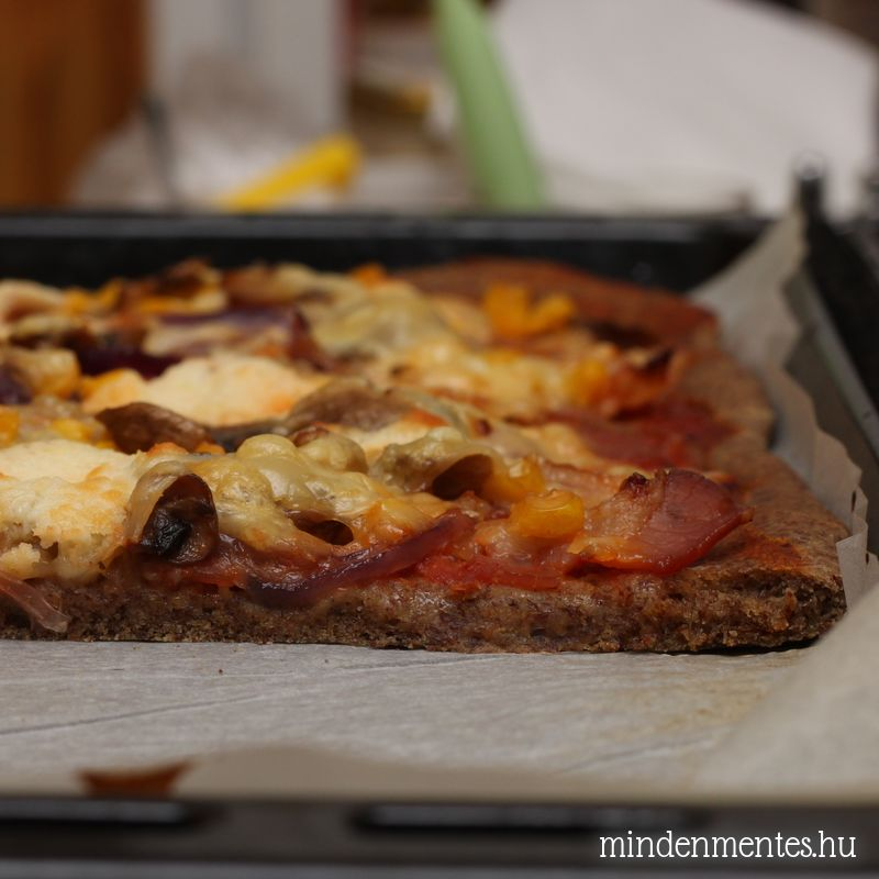 Pizza házilag: gluténmentes, teljes kiőrlésű pizzatészta