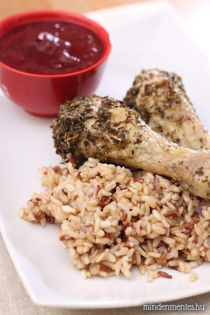 Provence-i fűszeres csirkecombok pikáns szilvaszósszal