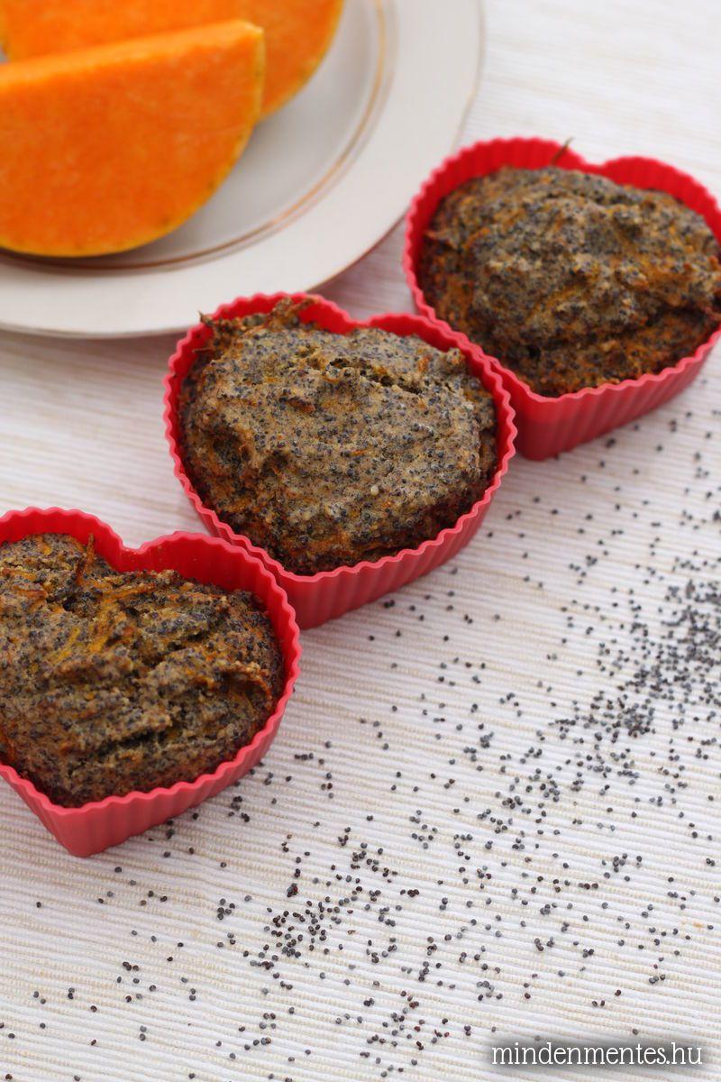 Sütőtökös-mákos muffinok