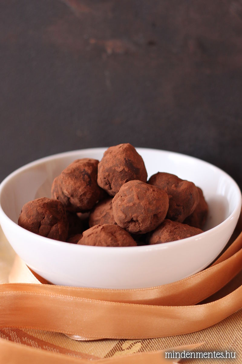 Tahinis étcsokoládé trüffel