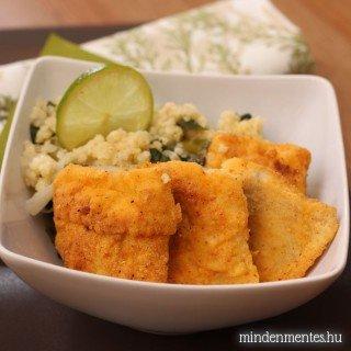 Tengeri hal mexikói bundában zöldfűszeres kölessel