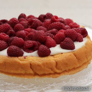 Vaníliás málna torta gyorsan, liszt- cukor- és tejtermékmentesen
