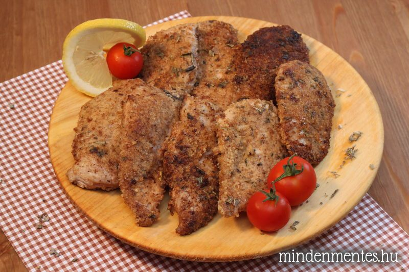 Zsályás bundában sült csirkemell (szénhidrátszegény, gluténmentes)