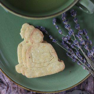 Levendulás, citromos gluténmentes keksz (IR-barát, vegán)