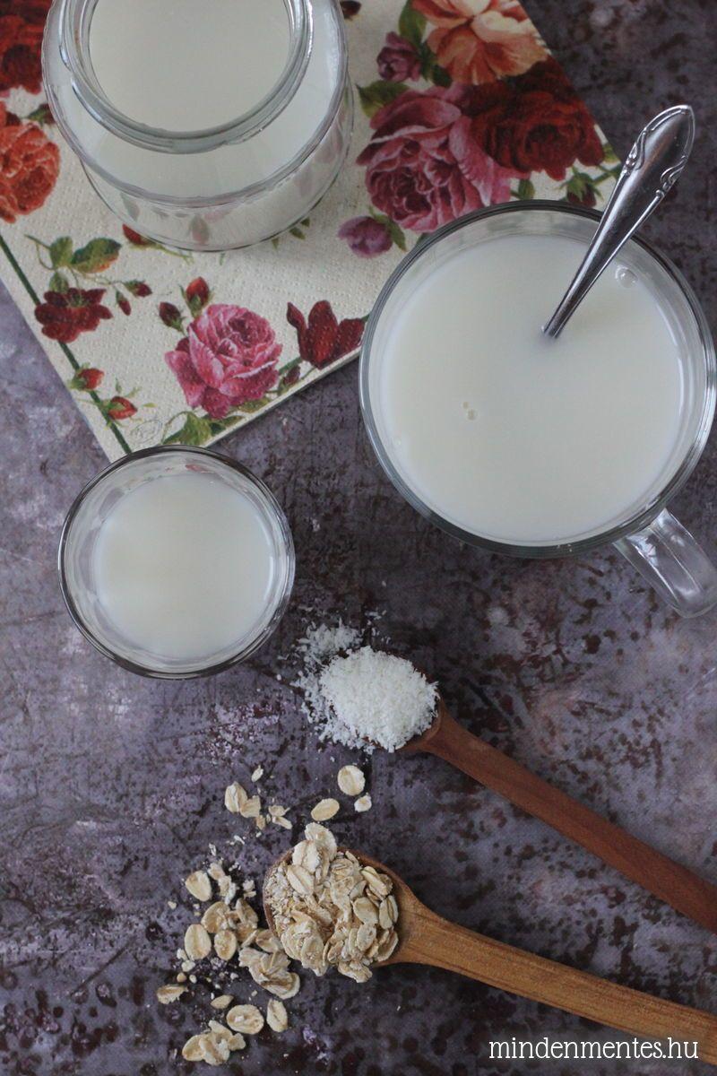Kókuszos zabtej házilag - #tejmentes, #vegán recept  mindenmentes.hu