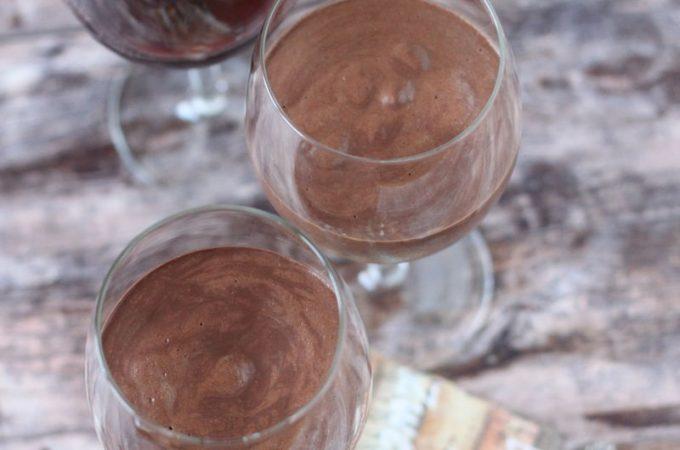 Vörösboros étcsokoládé mousse (cukormentes, tejmentes, tojásmentes, vegán) |mindenmentes.hu