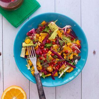 Tavaszváró marinált sütőtökös saláta