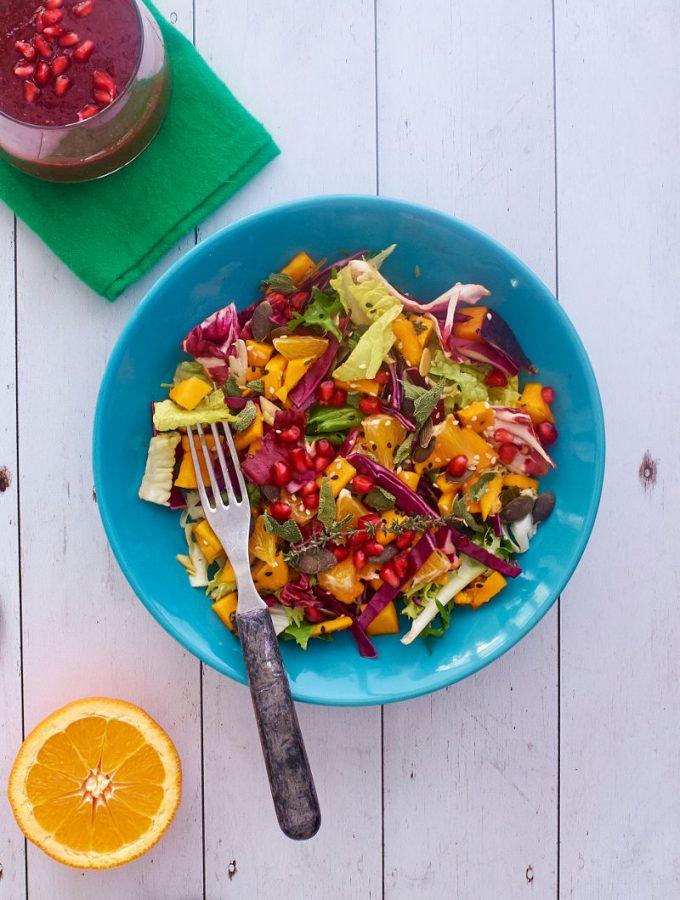 Tavaszváró marinált sütőtökös saláta #gluénmentes #vegán  mindenmentes.hu