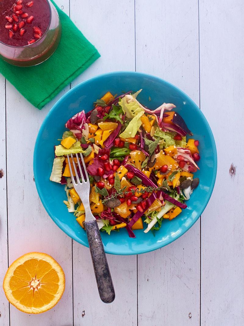 Tavaszváró marinált sütőtökös saláta #gluénmentes #vegán |mindenmentes.hu