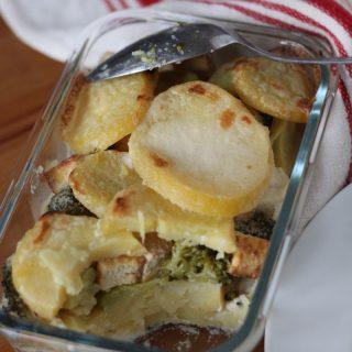Mindenmentes rakott krumpli brokkolival (vegán) |mindenmentes.hu