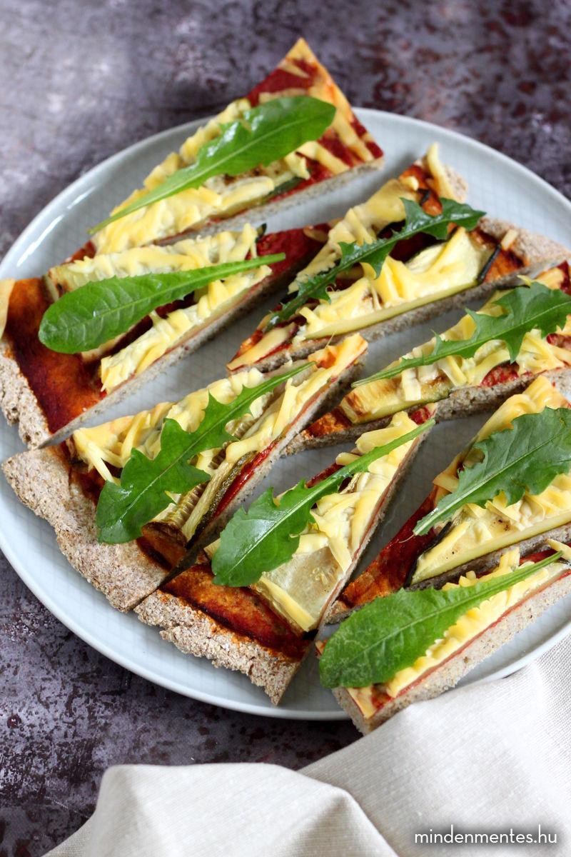 Pizza teljes értékű gluténmentes gabonákból (vegán) |mindenmentes.hu