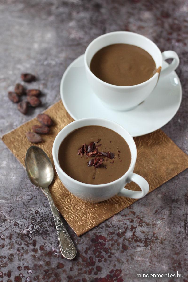 Csokoládé puding teljes értékű hozzávalókból (vegán) |mindenmentes.hu